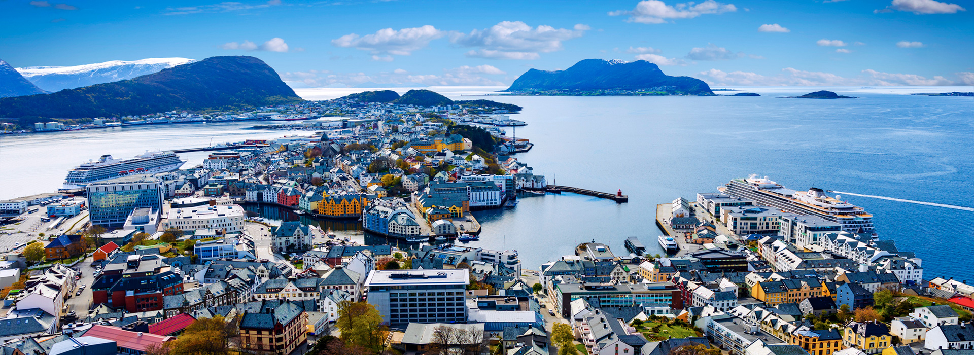 Aalesund seen from Fjellstua